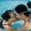 """Adam and Rae """"nosy"""" underwater."""