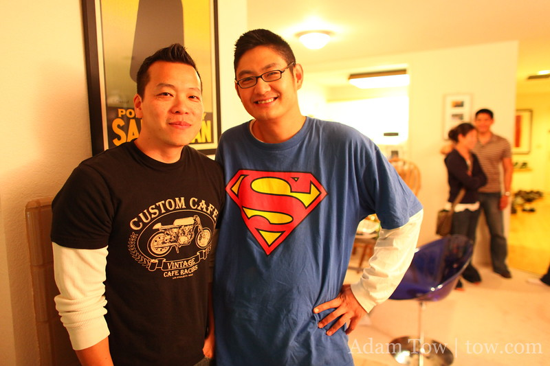 Tim and Dardy at the end of another successful party.