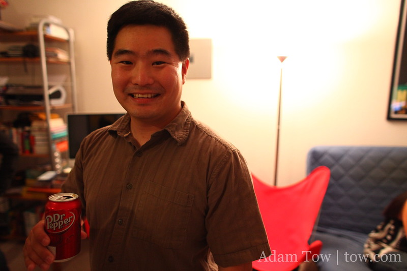 David is not doing product placement for Dr. Pepper.