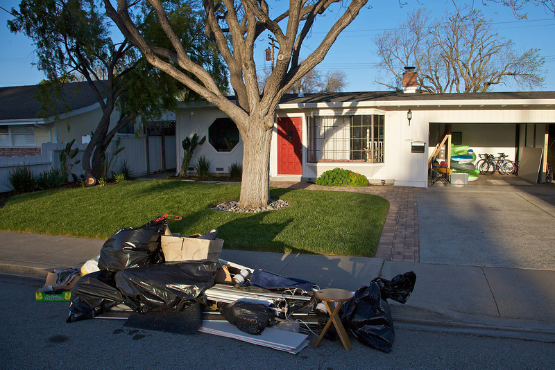 The pile outside of our house for Santa Clara's Annual Spring Cleanup, or Dump Day!