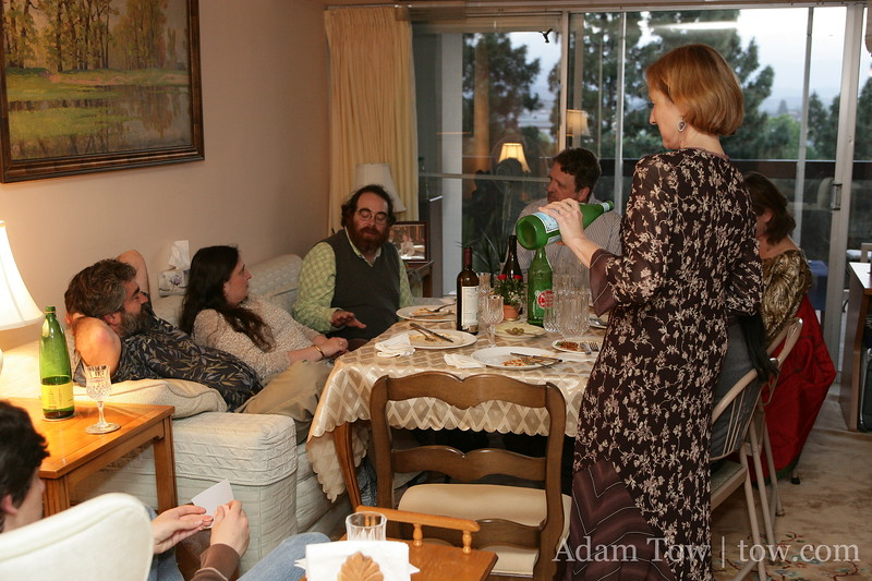 Dinner conversations at Flash and Olga's place in Palo Alto.