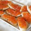 Salmon roe appetizers