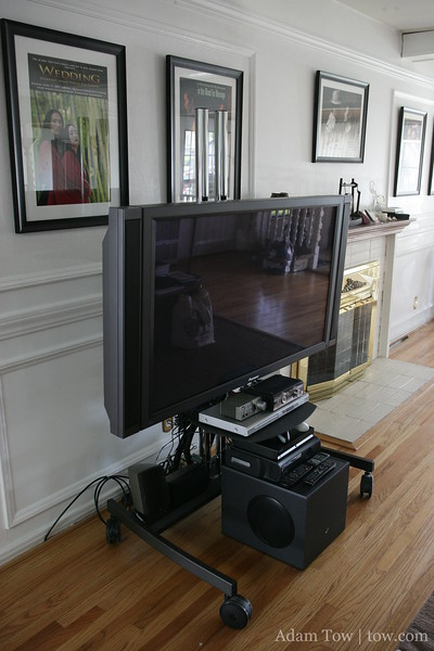 It's much easier to clean around the TV now that the cables are off the ground and out of the way!