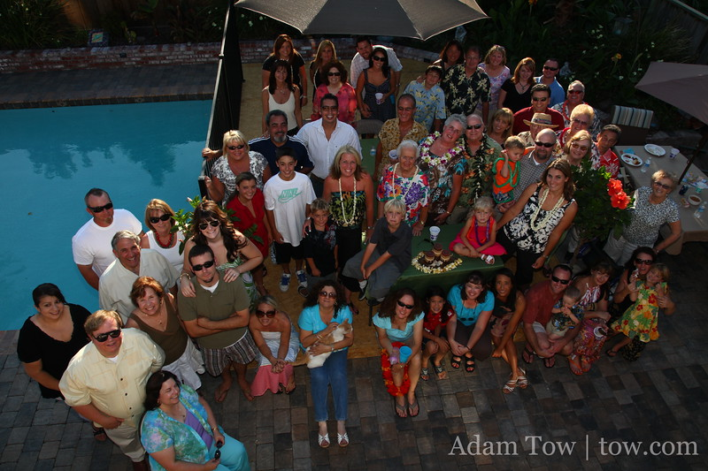 The crowd at Jerry and Sheila's 40th Anniversary Party.
