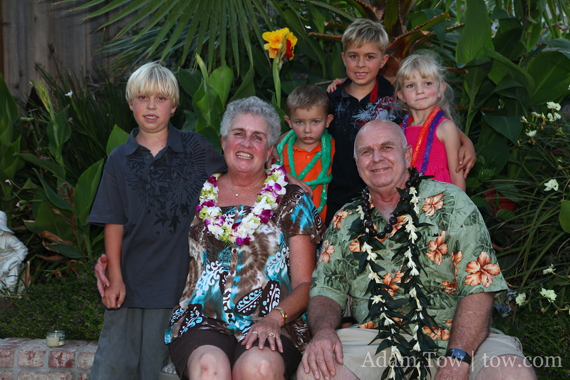 Sheila, Jerry and the grandkids.