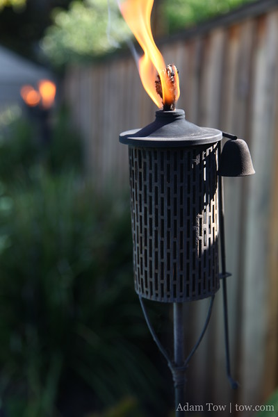 Tiki torches. Beware, these can burn!