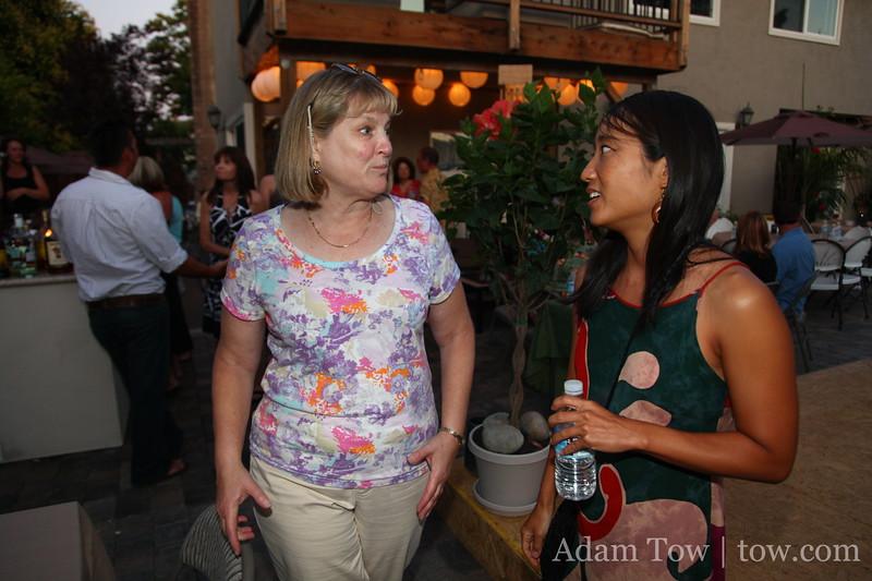 Karen talks with Rae.