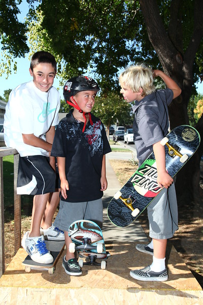 Skateboarders.