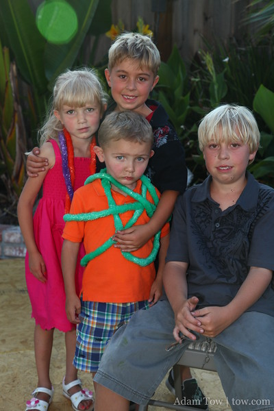 The grandkids all together now. Paige, Drew, Ryan and Tyler.