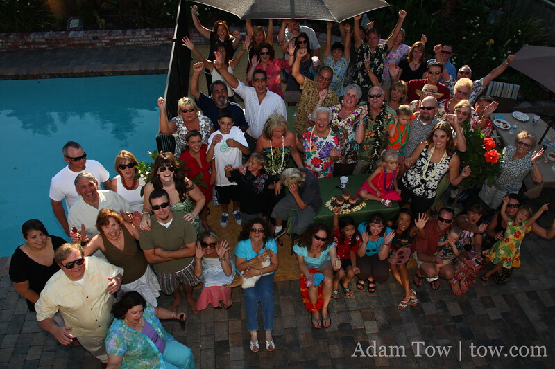 Having fun at Jerry and Sheila's 40th Anniversary party!