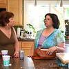 Conversations inside the kitchen.