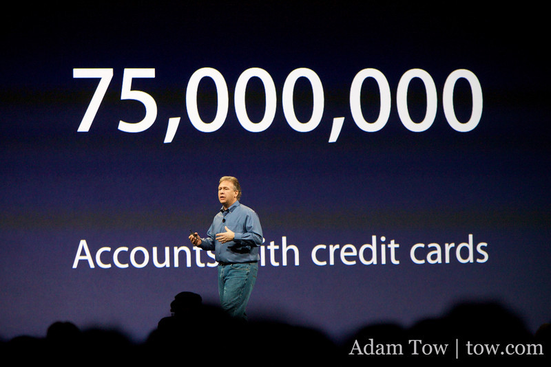 75,000,000 iTunes accounts with credit cards worldwide.