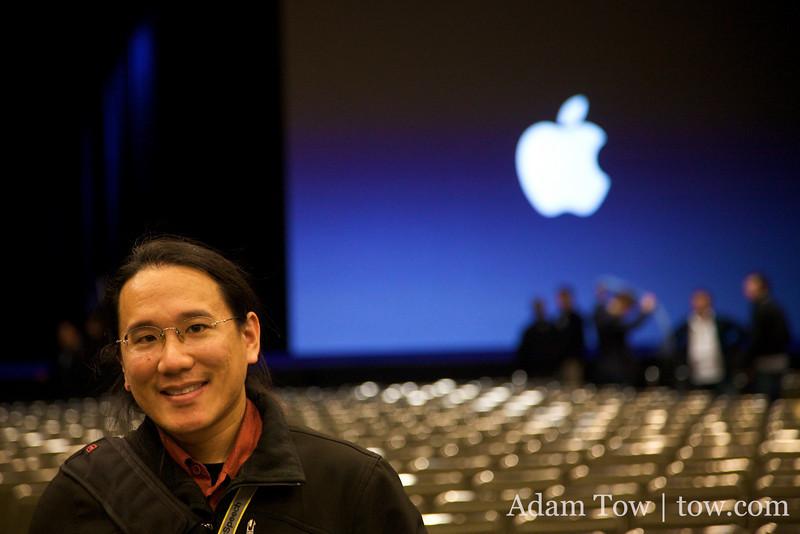 In the keynote hall at Macworld 2009.