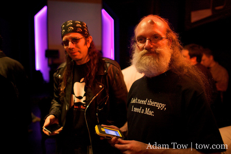 Sir Issac and Lunatic at the iPhone Intelligence party at Harlot in San Francisco.