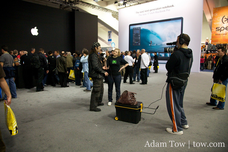 GeekTV interviewed people at Macworld about the lack of Steve Jobs at the conference.