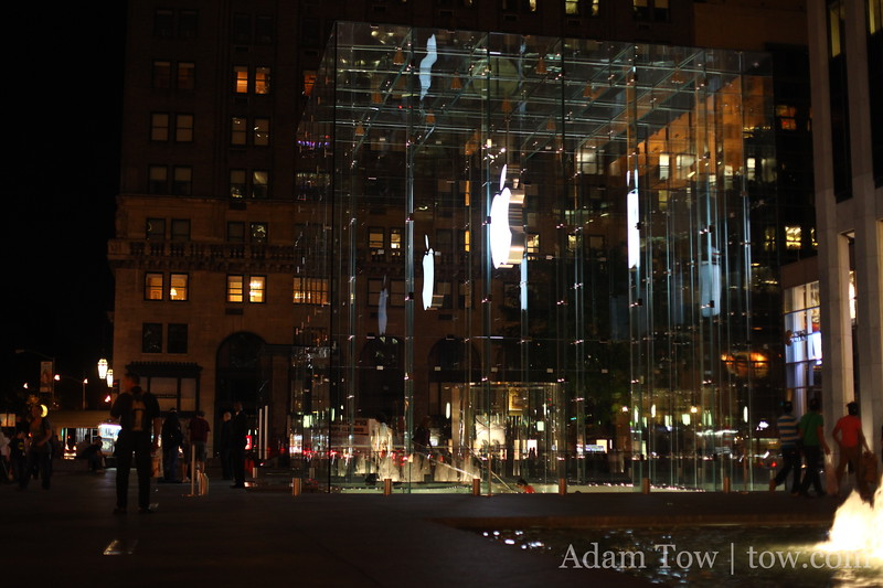 A visit to New York City would not be complete without a trip to the Fifth Avenue Apple Store.