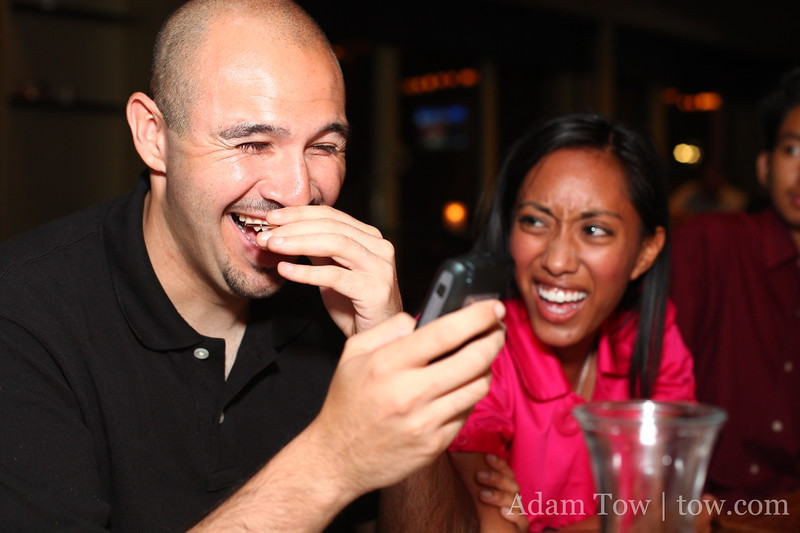 It's enough to make Dan laugh and to shock Juliana.