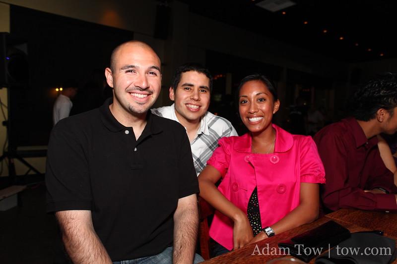Dan G., Osvaldo, and Juliana.