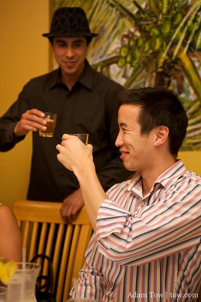 Daniel and Randy prepare shot #2.