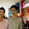 Dardy with Yul at Red Mango in Valley Fair.