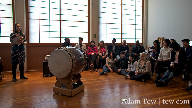 Dardy, Rae, and I head up to Somei Yoshino Taiko's annual Open House at their studio in Oakland.