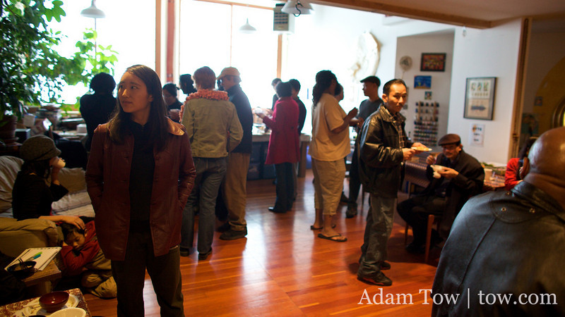 The scene from Somei Yoshino's Open House in Oakland.