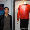 Felix stands next to Scotty's old uniform. He's no redshirt!