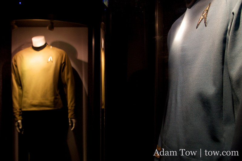 Kirk and Spock's uniforms.