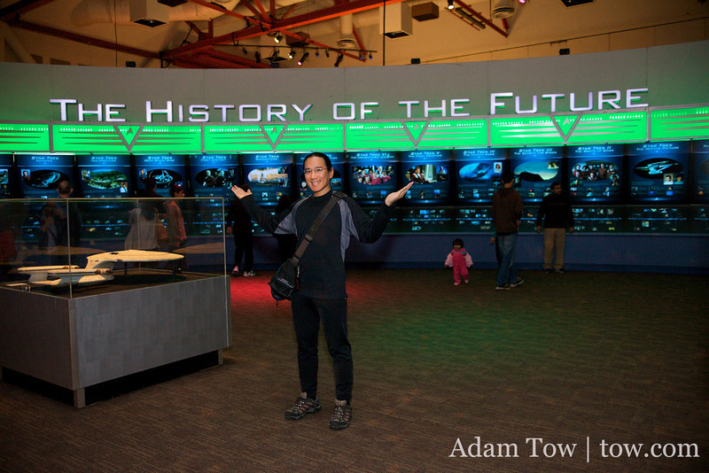 Adam at the History of the Future exhibit at the Star Trek: The Exhibition in the San Jose Tech Museum.