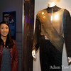Rae next to John Colico's Kor outfit. He also starred as the original Baltar in Battlestar Galactica.