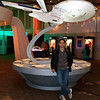 Felix in front of the Enterprise.