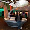 Felix in front of the Enterprise.