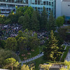 The crowd filling up Yerba Buena Gardens for the WWDC 2009 Beer Bash.