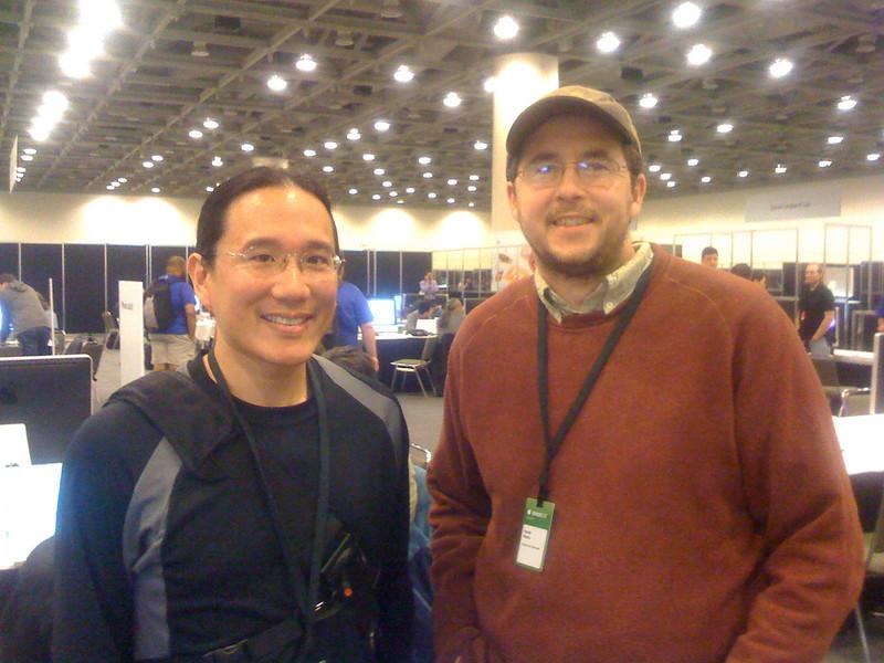 Adam with Hardy Macia of Catamount Software.