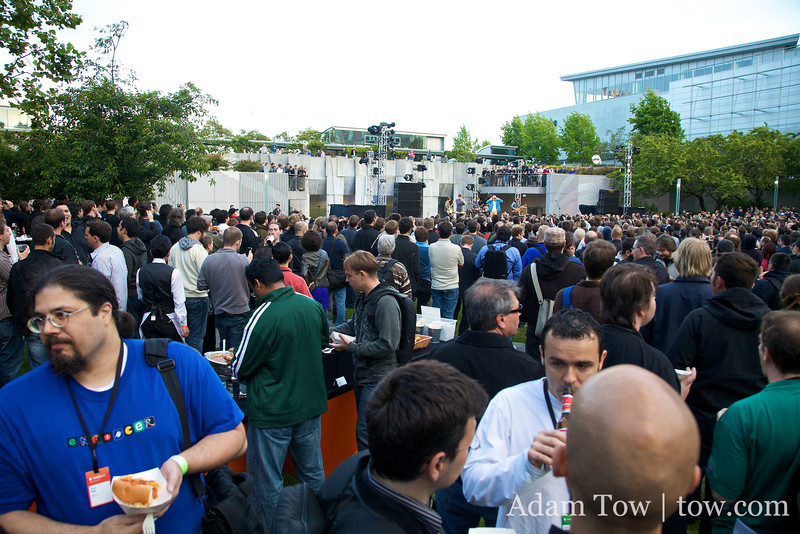 Listening to Cake perform at the WWDC 2009 Beer Bash.