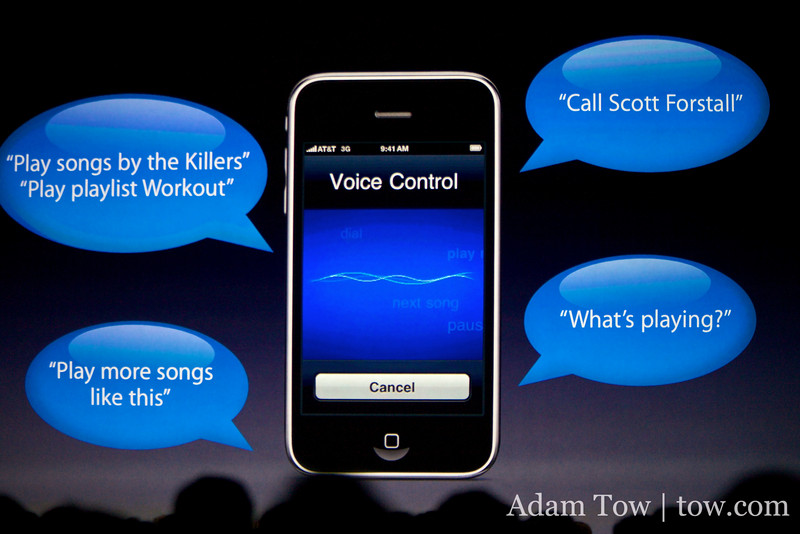 Voice Control in the next iPhone 3G S.