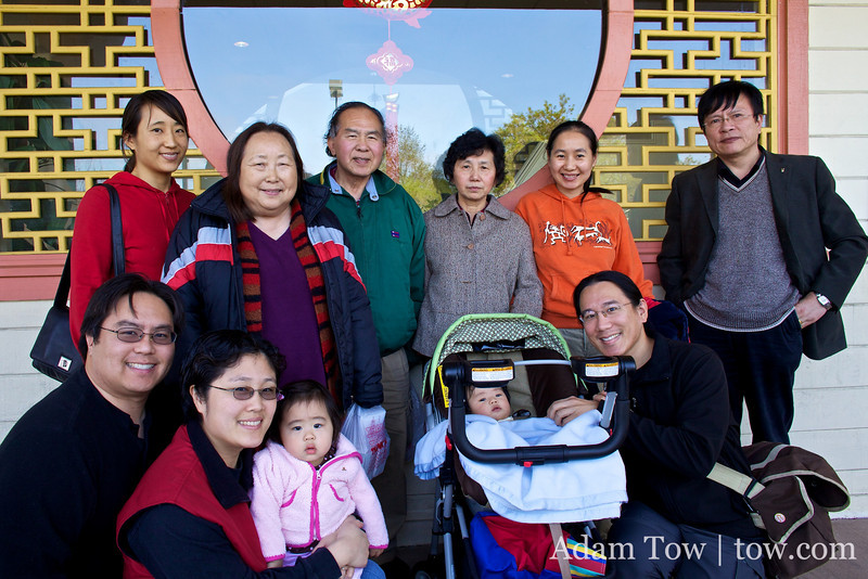 Group photo outside Hong Fu restaurant.