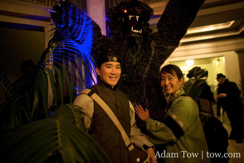 Qing Dynasty denizens at the Edwardian Ball.