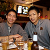 Chris with birthday boy Felix at Sweet Basil Thai Cuisine in San Mateo.
