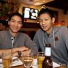Chris with birthday boy Felix at Sweet Basil Thai Cuisine in San Mateo.