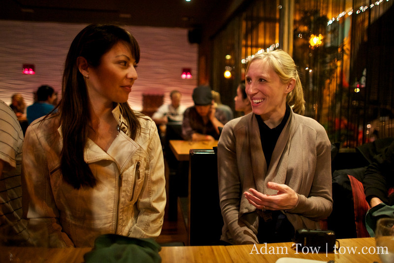 Suzanne talks with Cheryl.