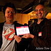 Luca and Luca (no relation) hold up the Autumn Gem for the iPad application. It was a hit at the event.
