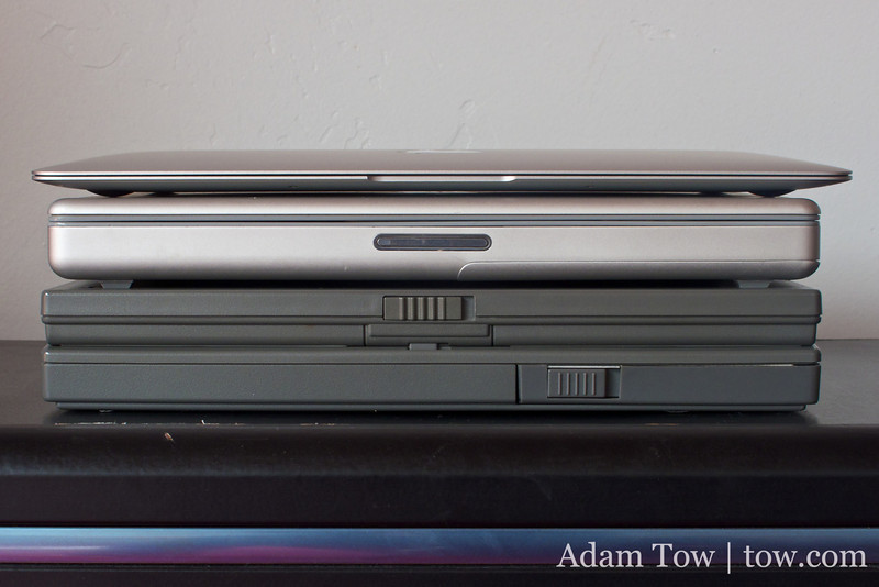 The smallest form-factor Apple laptops of their time.