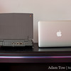 Like the PowerBook 100, the new MacBook Air has less ports than its bigger siblings.
