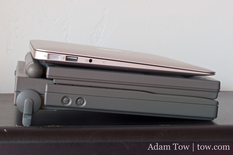 Nearly twenty years ago and today, we marvelled at how Apple (and Sony, who made the PowerBook 100) could fit so much in such a thin enclosure.