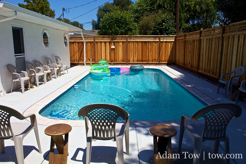 The pool awaits.