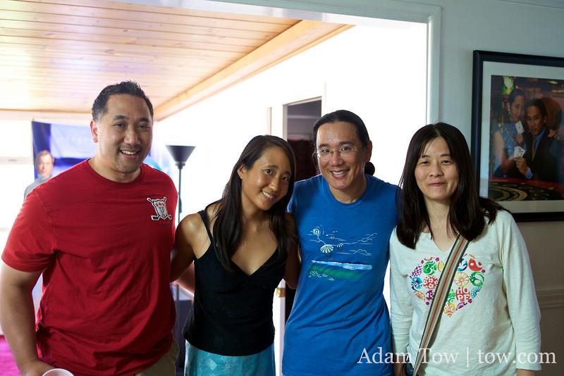 Geoff, Rae, Adam and Fanny.