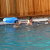 Breaststroke competition between Adam and Osvaldo.