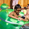 Ryan and Sean enjoy the pool.