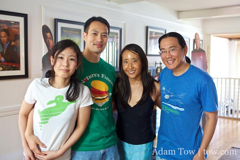 Yuki, Cyrus, Rae and Adam.